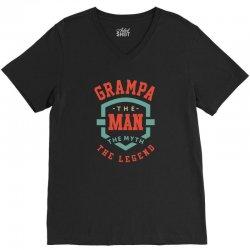 Grampa V-Neck Tee   Artistshot