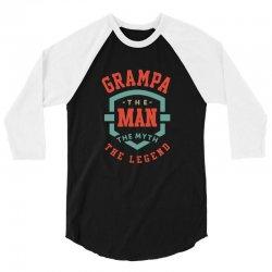 Grampa 3/4 Sleeve Shirt   Artistshot