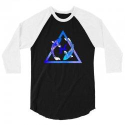 pisces watercolor 3/4 Sleeve Shirt | Artistshot