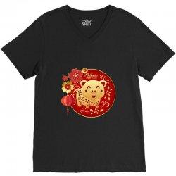 happy chinese new year V-Neck Tee | Artistshot