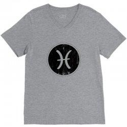 pisces zodiac symbol V-Neck Tee | Artistshot