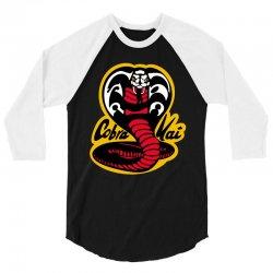 Cobra Karate 3/4 Sleeve Shirt   Artistshot