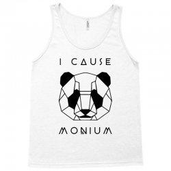 i cause panda monium   black Tank Top   Artistshot