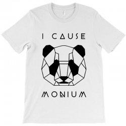 i cause panda monium   black T-Shirt   Artistshot