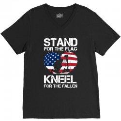 stand for the flag kneel for the fallen V-Neck Tee | Artistshot