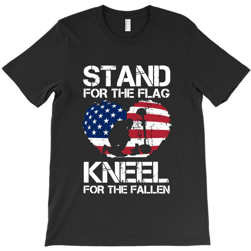 Stand For The Flag Kneel For The Fallen T-shirt | Artistshot