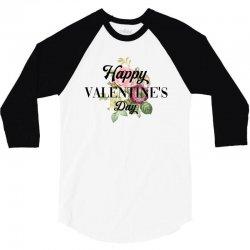 happy valentine's day for light 3/4 Sleeve Shirt   Artistshot