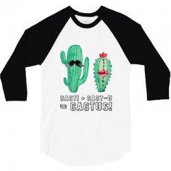 cactus couple for light 3/4 Sleeve Shirt | Artistshot