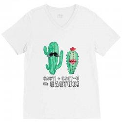 cactus couple for light V-Neck Tee | Artistshot