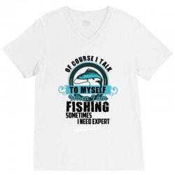 fishing V-Neck Tee | Artistshot