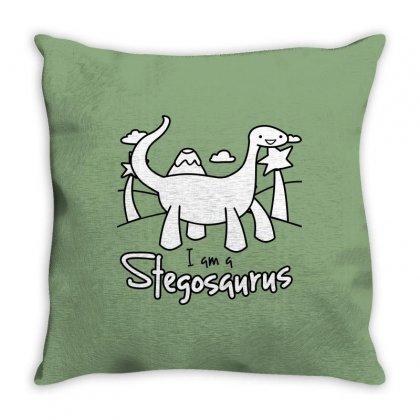 I Am A Stegosaurus Throw Pillow Designed By Silicaexil