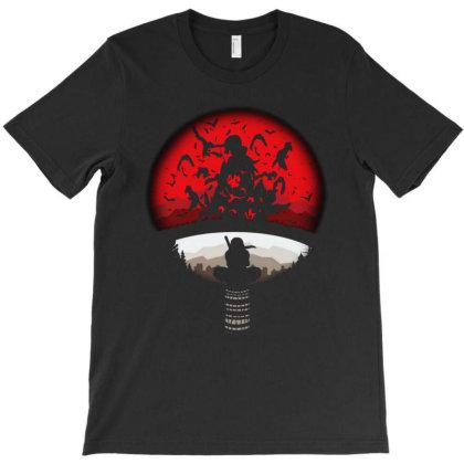 Red Moon Naruto T-shirt Designed By Ninabobo