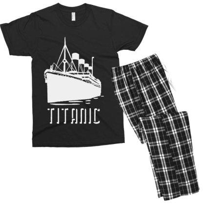 Titanic Men's T-shirt Pajama Set Designed By Ninabobo