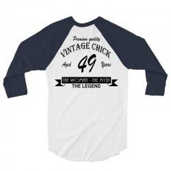 wintage chick 49 3/4 Sleeve Shirt   Artistshot