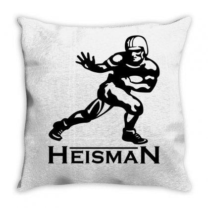 Heisman Throw Pillow Designed By Allentees