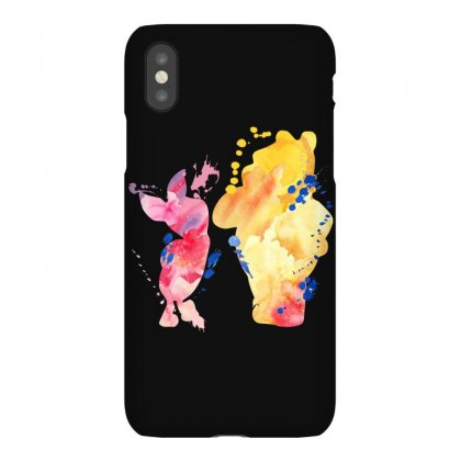 Watercolor Piglet And Winnie Pooh Iphonex Case Designed By Sengul
