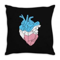 trans heart Throw Pillow   Artistshot
