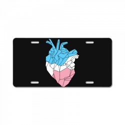 trans heart License Plate   Artistshot