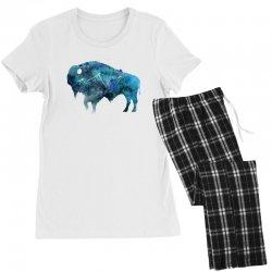bison watercolor Women's Pajamas Set | Artistshot