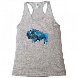 bison watercolor Racerback Tank | Artistshot