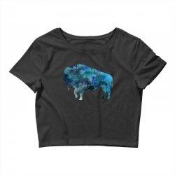 bison watercolor Crop Top | Artistshot