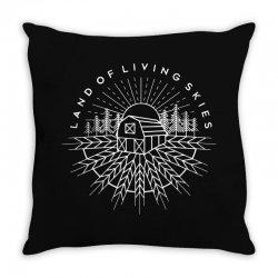 land of living skies Throw Pillow | Artistshot