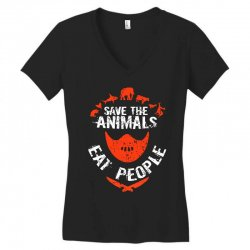 save animals eat people Women's V-Neck T-Shirt | Artistshot