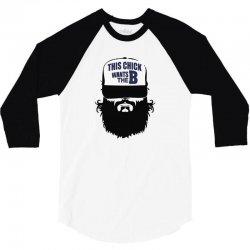 2 15  chick beard bearded beards 3/4 Sleeve Shirt   Artistshot