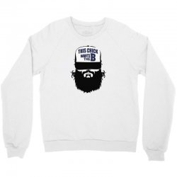 2 15  chick beard bearded beards Crewneck Sweatshirt   Artistshot