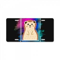 the spring hedgehog License Plate | Artistshot