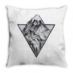 triangle mountain Throw Pillow | Artistshot