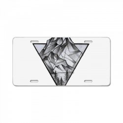triangle mountain License Plate | Artistshot