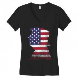trump and american boarder Women's V-Neck T-Shirt | Artistshot