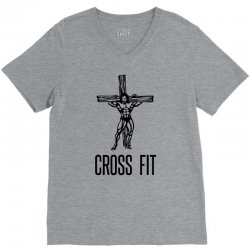 cross fit V-Neck Tee | Artistshot