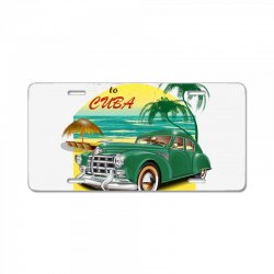 welcome to cuba License Plate | Artistshot