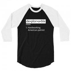 deplorable patriot 3/4 Sleeve Shirt   Artistshot