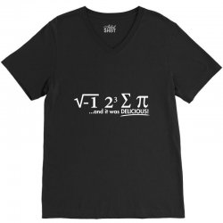 i ate some pie, and it was delicious V-Neck Tee | Artistshot