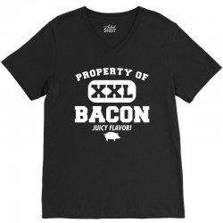 property bacon V-Neck Tee   Artistshot