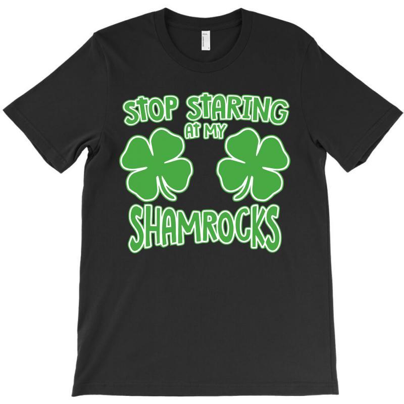 Staring Shamrocks T-shirt   Artistshot