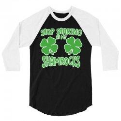 staring shamrocks 3/4 Sleeve Shirt   Artistshot