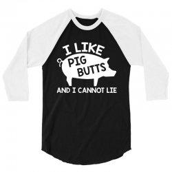 pig butts 3/4 Sleeve Shirt | Artistshot
