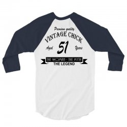 wintage chick 51 3/4 Sleeve Shirt   Artistshot