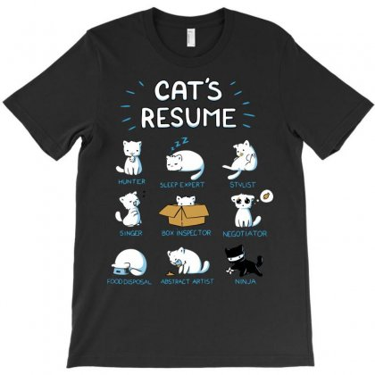Cat's Resume T-shirt Designed By Setia15ginting