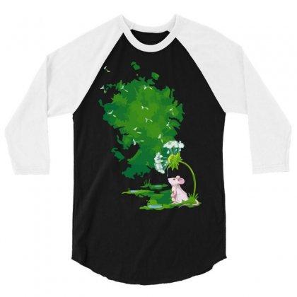 Dandelion Drops 3/4 Sleeve Shirt Designed By Sayasiti