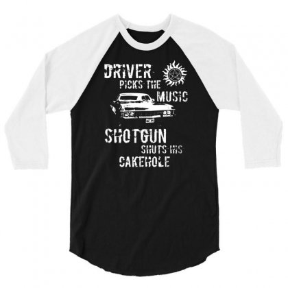 Driver Picks Music Mens T Shirt Supernatural Winchester Brothers Fashion Design 3/4 Sleeve Shirt Designed By Andryshop