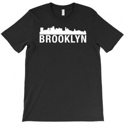 Brooklyn City Skyline Silhouette Urban T-shirt Designed By Narayatees