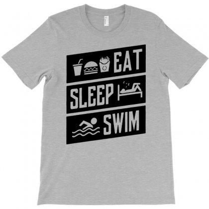 Eat Sleep Swim T-shirt Designed By Narayatees