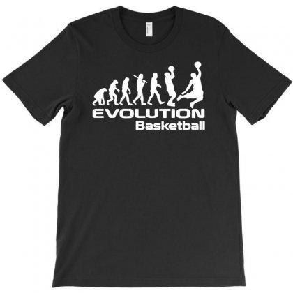 Evolution Of Basketball Sport Funny T-shirt Designed By Narayatees
