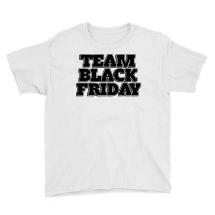 Team Black Friday Youth Tee Designed By Kiva27