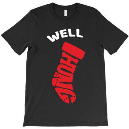 Well Hung Red Socks T-shirt Designed By Vanode Art